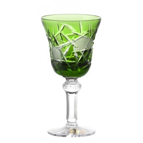 Sklenice na víno Mars, barva zelená, objem 180 ml