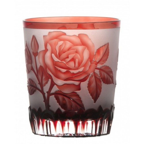 Sklenička Růže, barva rubín, objem 290 ml