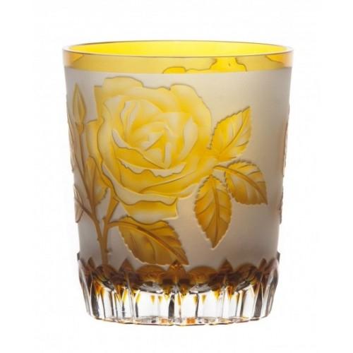 Sklenička Růže, barva amber, objem 290 ml