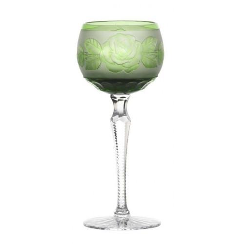 Sklenice na víno Růže-květ, barva zelená, objem 190 ml