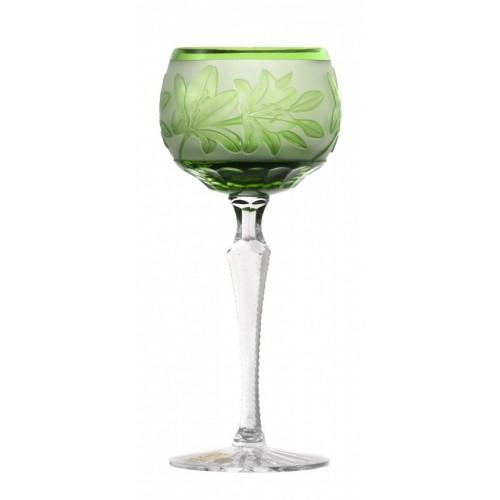 Sklenice na víno Lilie, barva zelená, objem 190 ml
