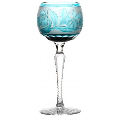Sklenice na víno Iris, barva azurová, objem 190 ml