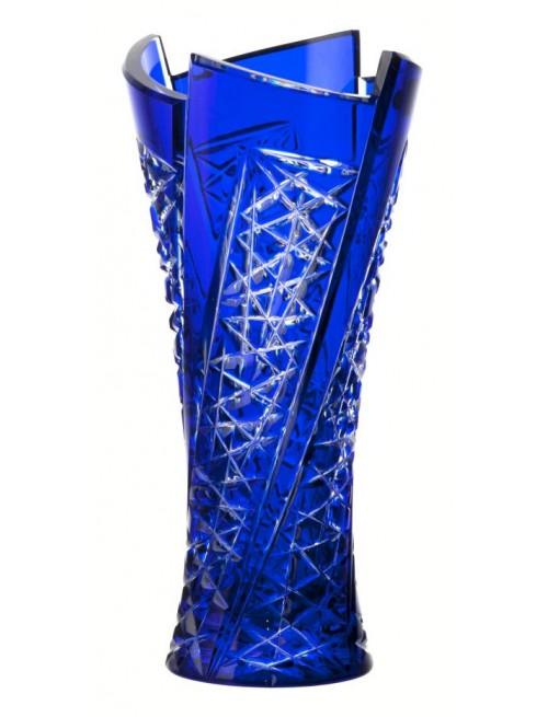 Váza Fan, barva modrá, výška 310 mm