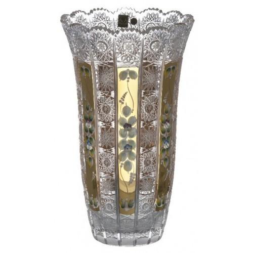 Váza 500K Zlato, barva čirý křišťál, výška 310 mm