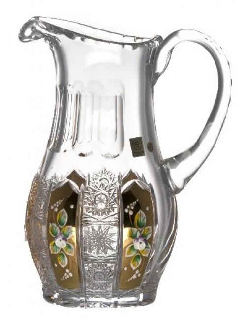 Džbán 500K Zlato, barva čirý křišťál, objem 1300 ml
