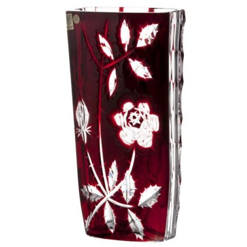 Váza Rose, barva rubín, výška 255 mm