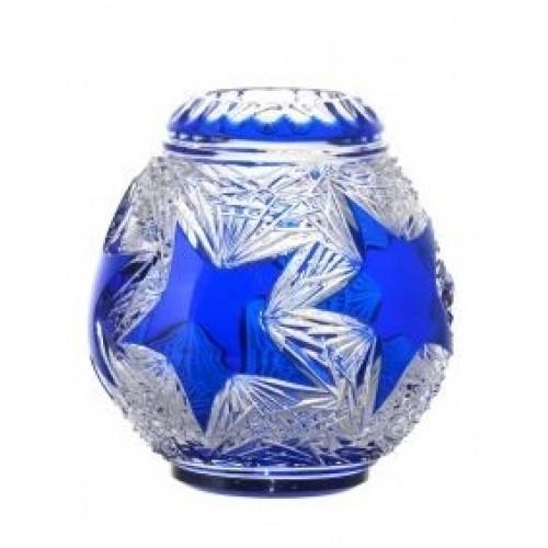 Váza Stella, barva modrá, výška 135 mm