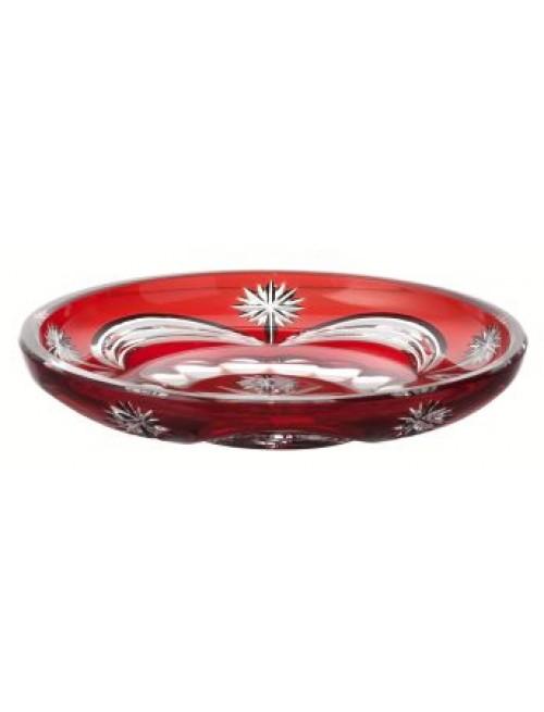 Talíř Festoonery, barva rubín, průměr 180 mm
