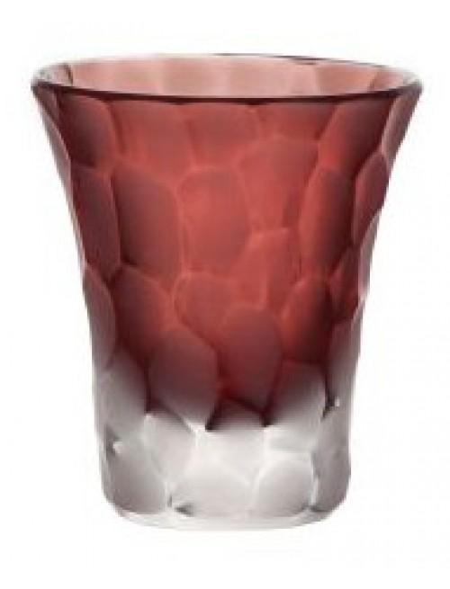 Likérka podjímaná- kuličky mat, barva rubín, objem 45 ml
