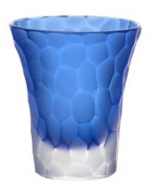 Likérka podjímaná- kuličky mat, barva modrá, objem 45 ml