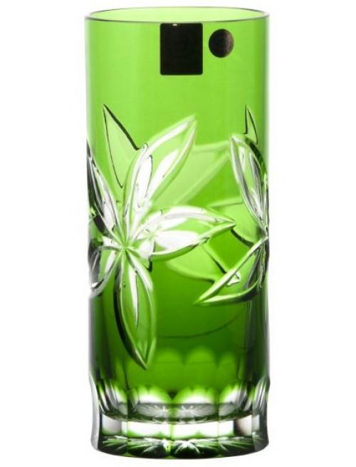 Sklenička Linda, barva zelená, objem 350 ml