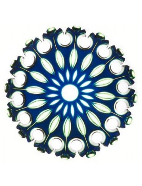 Talíř Flamenco, barva modrá - zelená, průměr 350 mm
