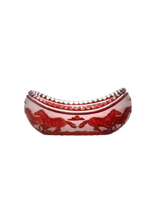 Jardiniera Koně, barva rubín, průměr 355 mm