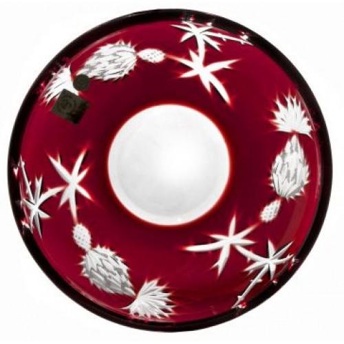 Talíř Thistle, barva rubín, průměr 181 mm