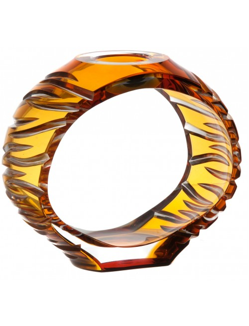 Svícen Ara, barva amber, výška 165 mm