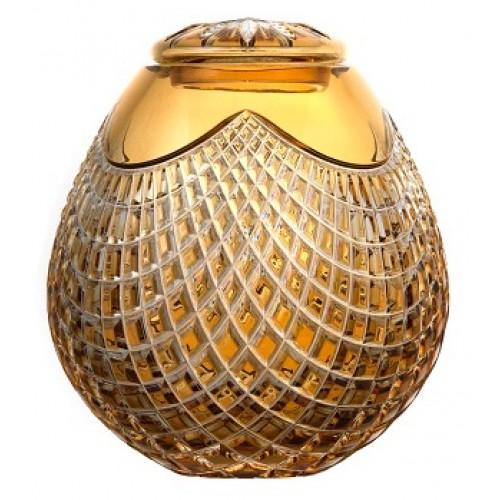Urna Quadrus, barva amber, velikost 230 mm