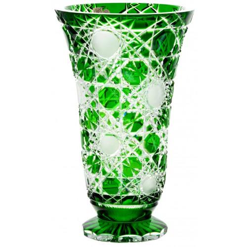 Váza Flake, barva zelená, výška 305 mm