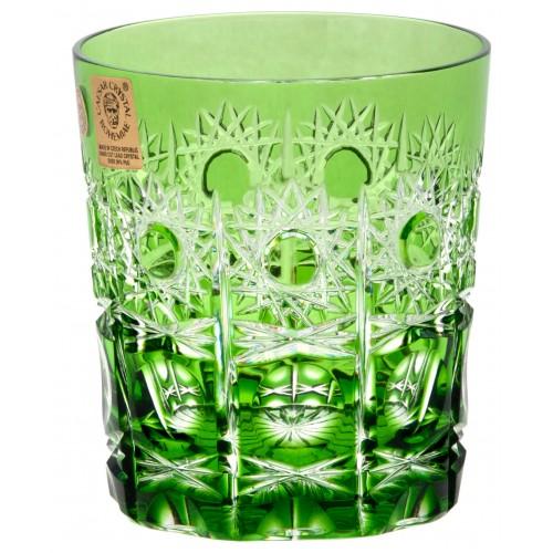 Sklenička Petra, barva zelená, objem 290 ml
