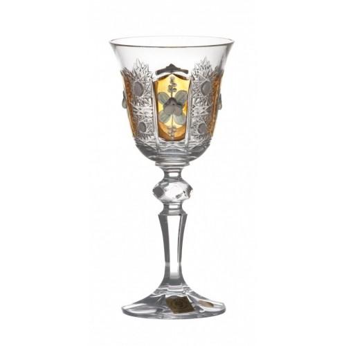 Sklenice na víno Laura 500K zlato, barva čirý křišťál, objem 130 ml