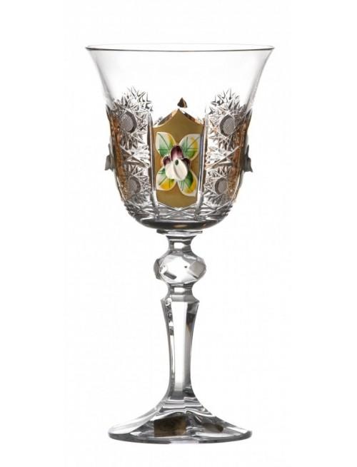 Sklenice na víno Laura 500K zlato, barva čirý křišťál, objem 170 ml