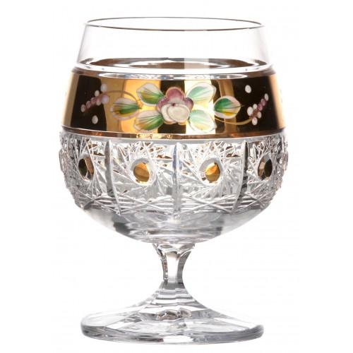 Sklenička Brandy 500K zlato, barva čirý křišťál, objem 250 ml