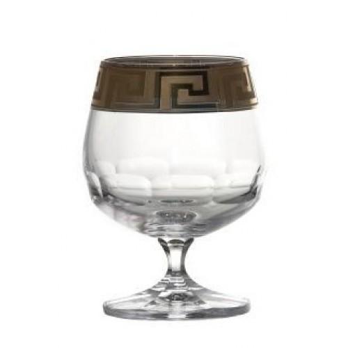 Sklenička brandy smalt, barva čirý křišťál, objem 250 ml
