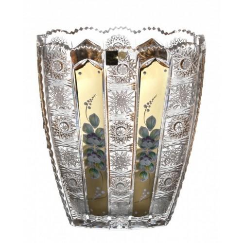 Váza  500K Zlato II, barva čirý křišťál, výška 255 mm