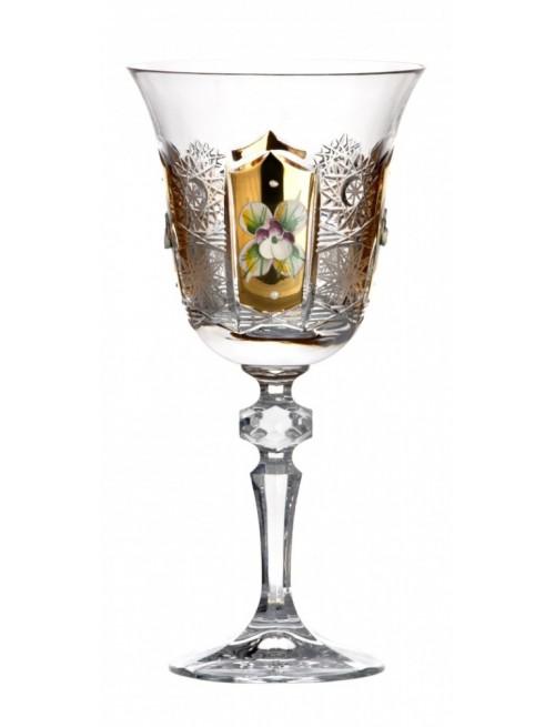 Sklenice na víno 500K zlato, barva čirý křišťál, objem 220 ml