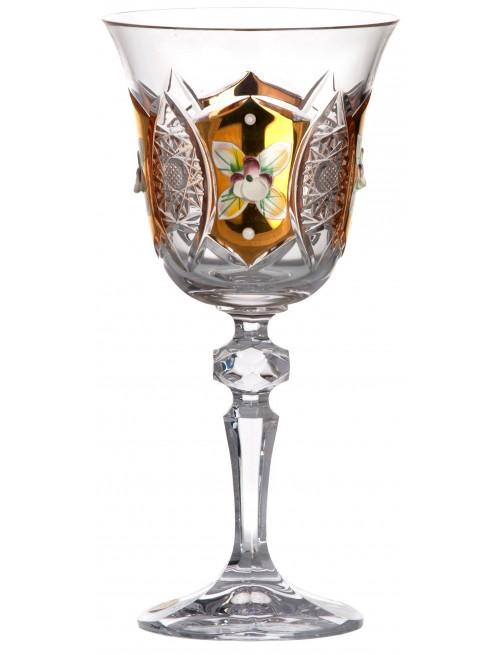 Sklenice na víno zlato, barva čirý křišťál, objem 220 ml