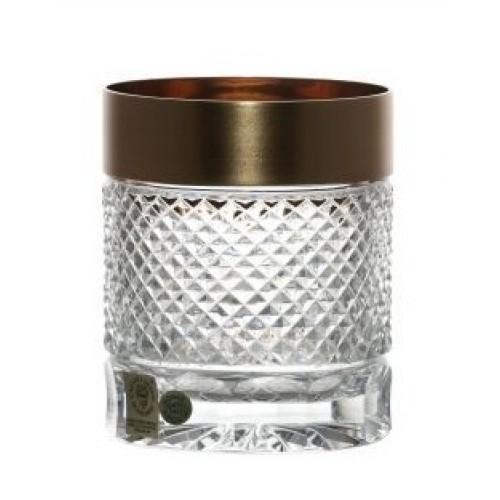 Sklenička Whisky zlato mat, barva čirý křišťál, objem 320 ml