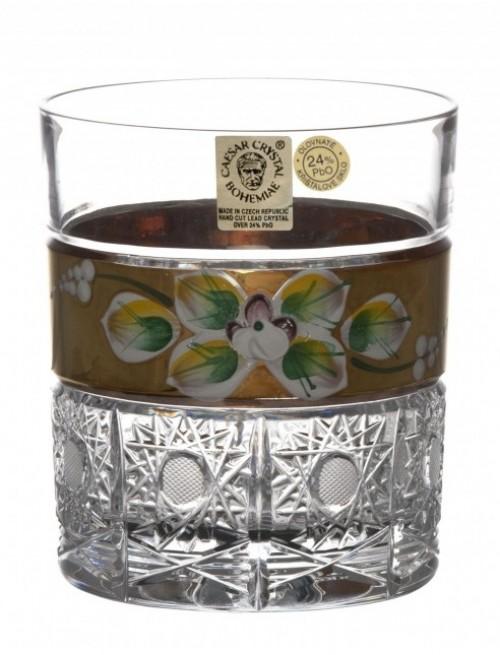 Sklenička Whisky zlato, barva čirý křišťál, objem 320 ml