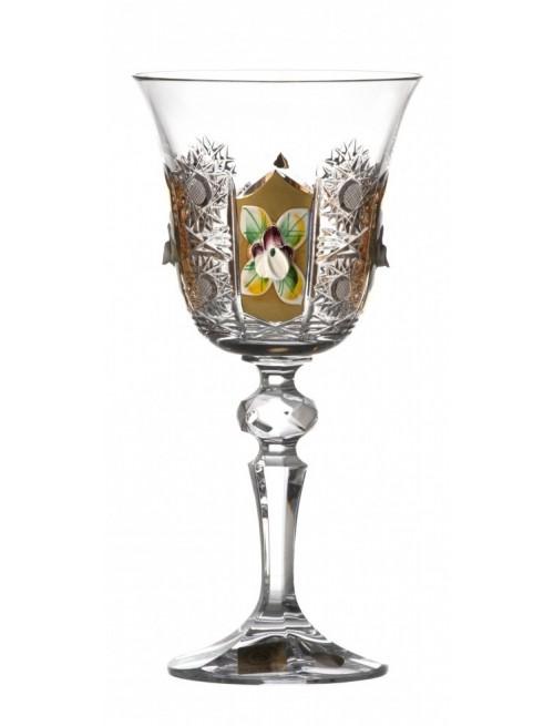 Sklenice na víno zlato I, barva čirý křišťál, objem 170 ml