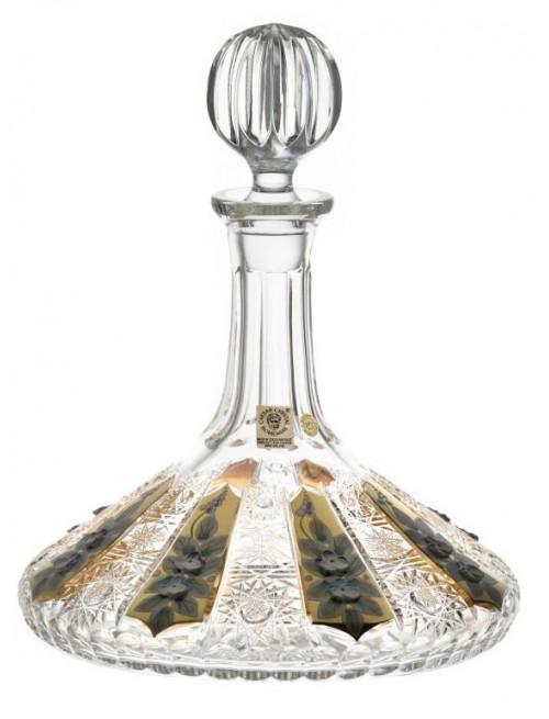 Lodní láhev 500K zlato, barva čirý křišťál, objem 750 ml