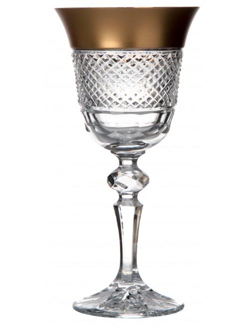 Sklenice na víno Laura zlato mat, barva čirý křišťál, objem 170 ml