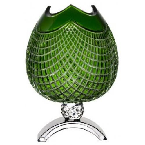 Váza Quadrus, barva zelená, výška 386 mm