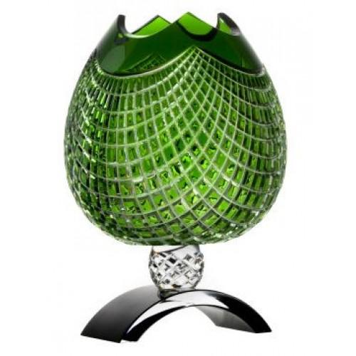Váza Quadrus, barva zelená, výška 316 mm