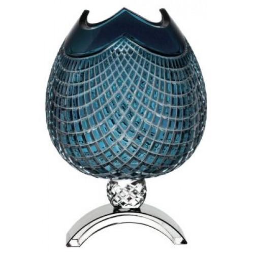 Váza Quadrus, barva azurová, výška 386 mm