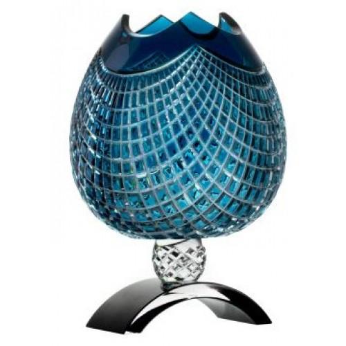 Váza Quadrus, barva azurová, výška 316 mm