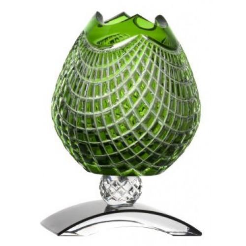 Váza Quadrus, barva zelená, výška 181 mm
