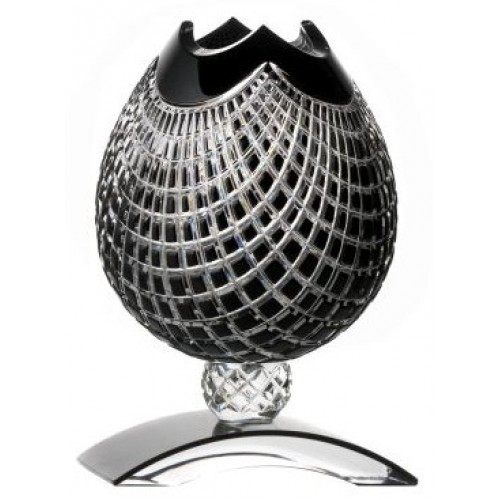 Váza Quadrus, barva černá, výška 181 mm