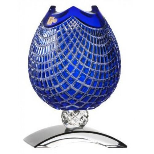 Váza Quadrus, barva modrá, výška 181 mm