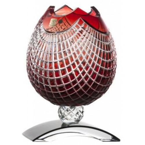 Váza Quadrus, barva rubín, výška 181 mm