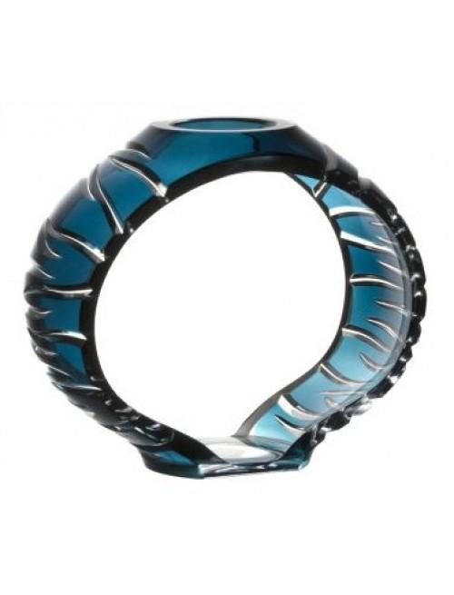 Svícen Ara, barva azurová, výška 165 mm
