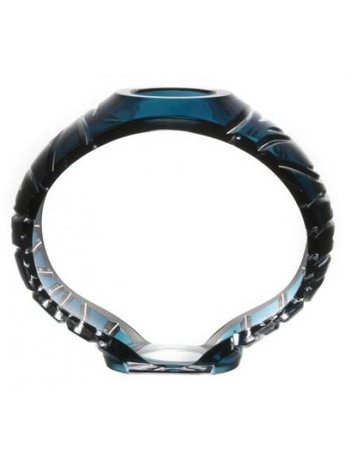 Svícen Ara, barva azurová, výška 230 mm
