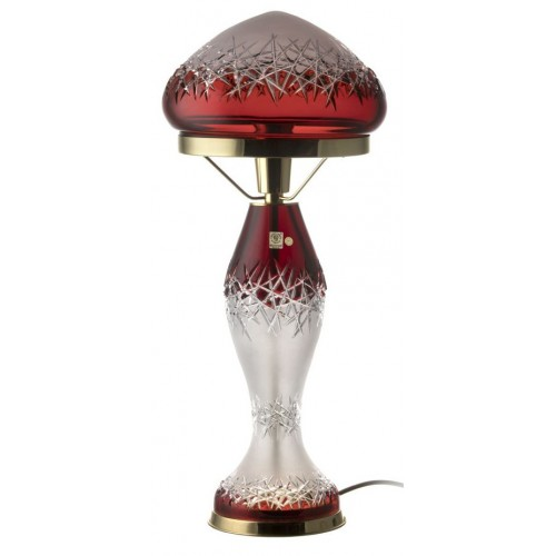 Lampa Hoarfrost, barva rubín, výška 475 mm