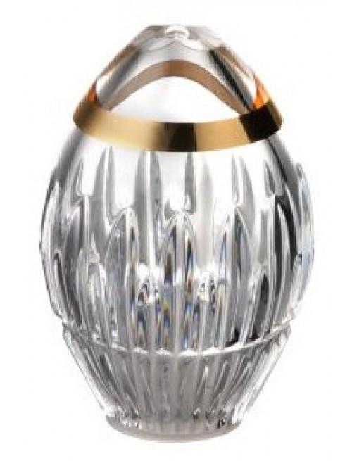 Solnička Thorn zlato, barva čirý křišťál, výška 81 mm