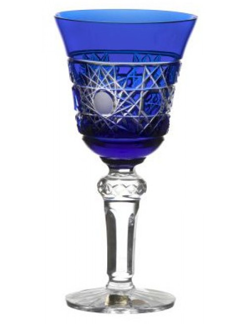 Sklenice na víno Flake, barva modrá, objem 180 ml