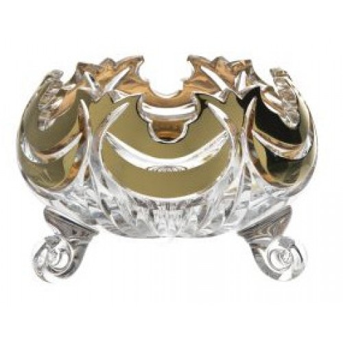 Miska Diadem zlato, barva čirý křišťál, průměr 114 mm