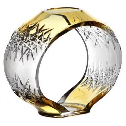 Svícen Hoarfrost, barva amber, výška 230 mm