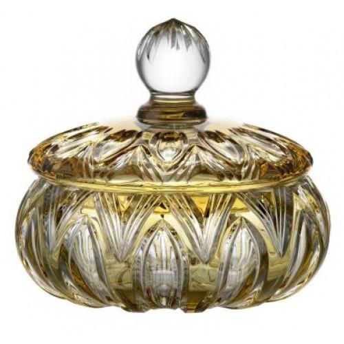 Dóza Lotos, barva amber, výška 165 mm